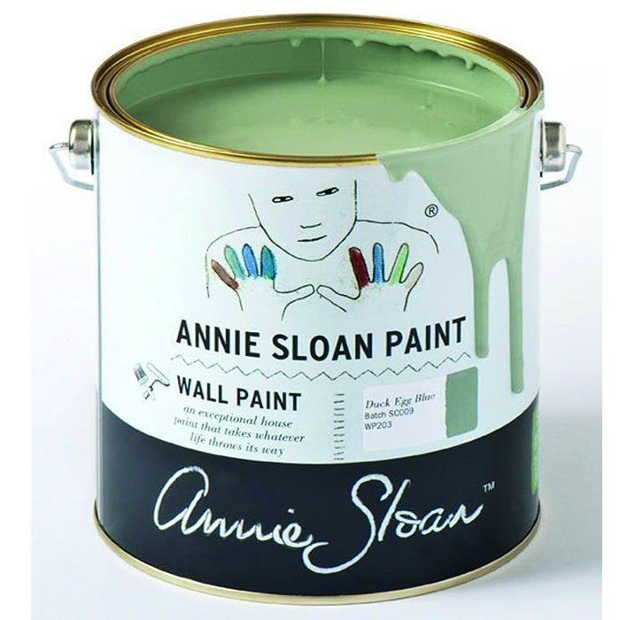 Annie Sloan Wandfarbe graugrün – Dark Egg Blue