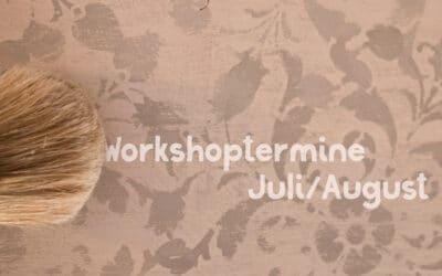 Juli-August: Chalk Paint Basis- & Fortgeschrittenen-Workshops