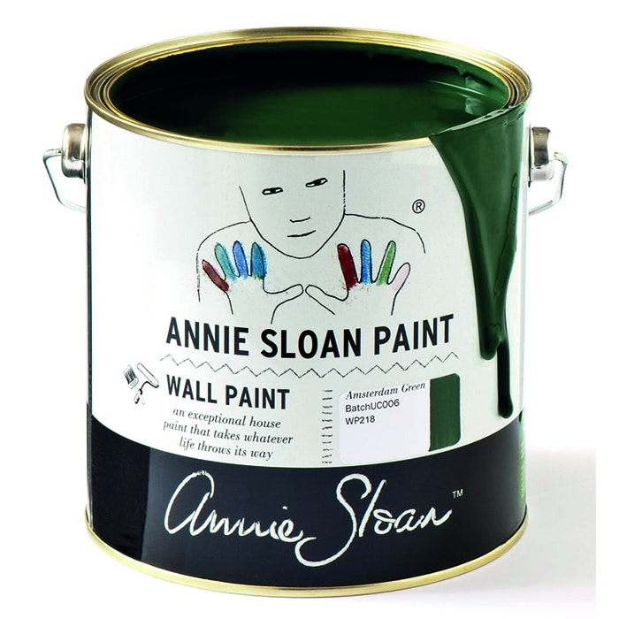 Annie Sloan Wandfarbe dunkelgrün - Amsterdam Green