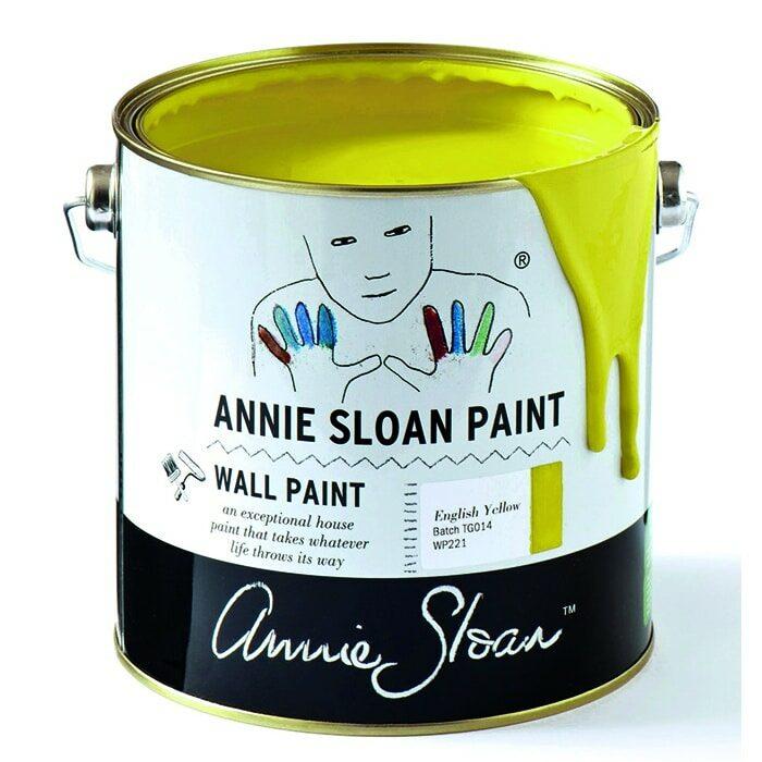 Annie Sloan Wandfarbe zitronengelb – English Yellow
