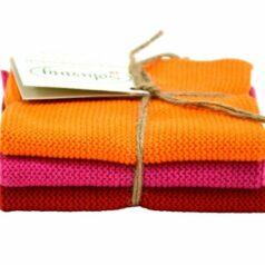 Solwang Wischtücher – Set Orange/Pink/Rot BIO